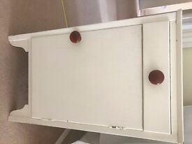 Wood bedside cabinet