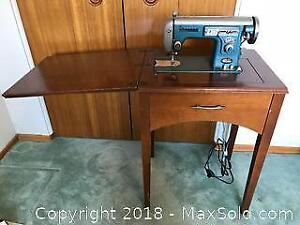Vintage Kenmore Sewing Machine and Stand - C