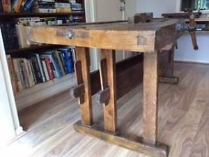 Antique 19th Century Danish Carpenter's Workbench Strathmore Moonee Valley Preview