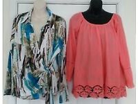 Lovely Italian Made Womens Tops Size 20 One New - One Used - Great for Holidays