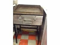 Commercial griddle large hot plate. Two burner gas .