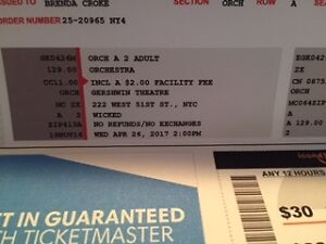 2 TIckets to Broadway's Wicked in New York St. John's Newfoundland image 1