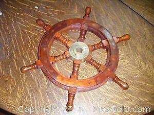 Wooden Boat Wheel A