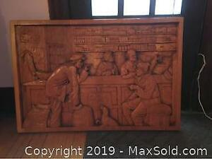 Solid Wood Wall Carving