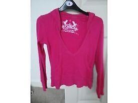 Size 8 pink low cut hoodie £2