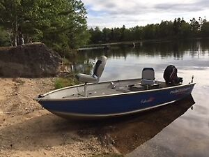 Princecraft motorboat and Mercury outboard motor