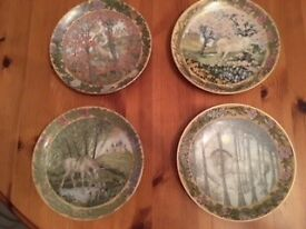 Villeroy & Boch plate collection: Enchanted Tales of a Unicorn. Set of 4