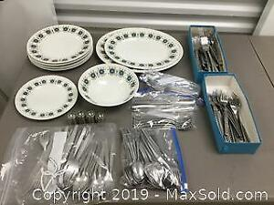 Mid Century Dishes And Cutlery (B)