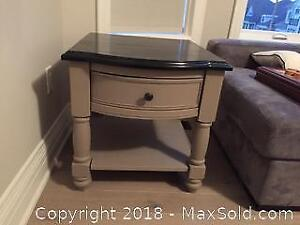 Grey And Black Coffee And Side Table Set