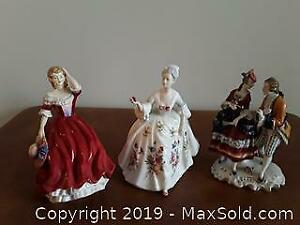 2 Royal Doulton Spring and Diana , 1 couple no brand
