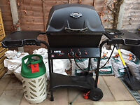 Gas Barbeque Complete With Tools, 10 kg Gas Bottle and Cover - Fiesta Express Model KA34552