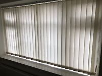Silver Grey Venetian Blinds (many sizes) and One White & One Blue Vertical Blinds