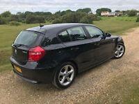BMW 118D black 5 door hatchback 1 series, diesel, manual, brand new MOT, 2 new back tyres