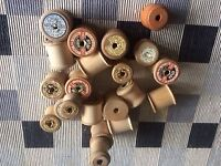 Empty Vintage Wooden Cotton Reels