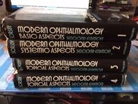 Modern Ophthalmology by Arnold Sorsby (2nd edition), 4 volumes,
