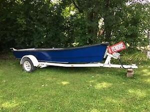 hunting fishing boat/chaloupe chasse/peche trailer/remorque