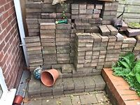 200 bricks and 30 roof tiles available for immediate pick up for £15