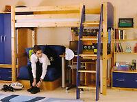 Cresta cabin bed scandinavian pine with accessories excellent condition