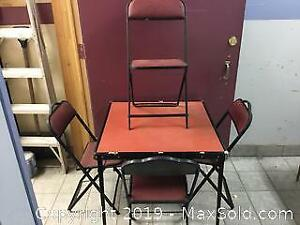 Folding Card Table And Chair Set