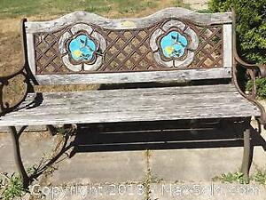 Wrought Iron Outdoor Bench A