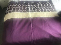 DUNELM lined ring top curtains (mint condition)