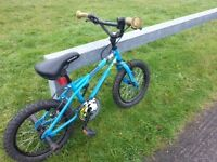 Small Childrens Boys Bike/Bicycle with helmet included