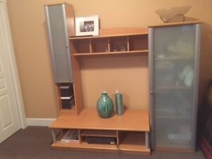 wall unit or storage unit and coffee table