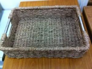 1 Rectangle Cane Tray with Steel Handles Matraville Eastern Suburbs Preview