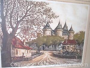 Vintage Castle Scene. Limited Edition #63 Of 350. Signed By The Artist.