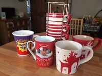 Assortment of Mugs x7 Including 3 in a Tower Holder from M&S - £1 for the lot