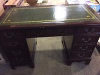 Georgian style leather top writing desk