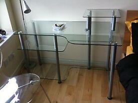 Glass computer work station