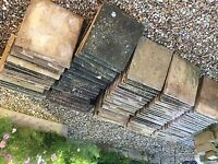 Paving slabs and curbs