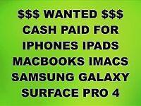 💰CASH PAID FOR IPHONE X, 7, 8, 8 PLUS, MACBOOKS, IPADS, IMACS, SAMSUNG GALAXY NOTE 8, S8, S8 PLUS