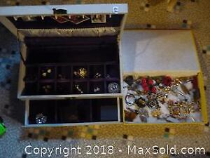 Two boxes of Costume Jewellery. -A
