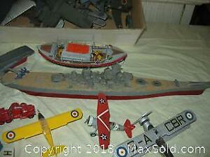 Model Ships, Planes, Trucks and Parts. A