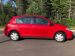 Red 2009 Nissan Versa 1.8S Hatchback