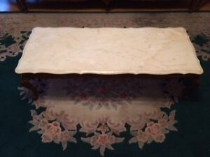 Antique Marble Living Room Table Set