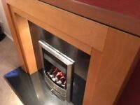 Fire surround, granite hearth & back, fire & power flue if required