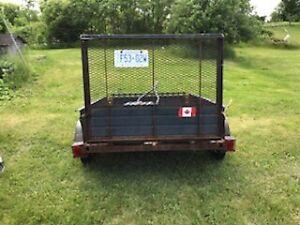 Ramp load Utility trailer for sale.