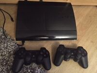 PS3 superslim 150GB and 6 games 2 wireless controllers