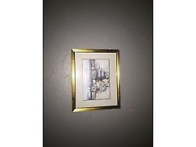 SMALL ERIC AULD FRAMED PRINT - INTO ABERDEEN