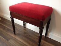 **Beautiful mahogany dressing table stool**