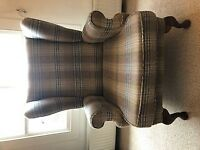 REUPHOLSTERED PARKER KNOLL WING BACK ARMCHAIR CHAIR TRADITIONAL STYLE GREAT CONDITION