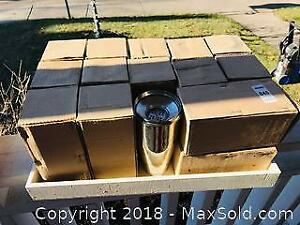 14 Vintage Stainless Steel Cocktail Shakers all Mint in Boxes