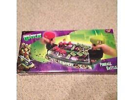 TEENAGE MUTANT NINJA TURTLES PINBALL GAME BRAND NEW IN BOX