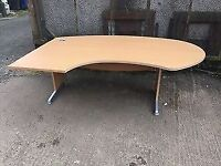 Large left hand reception table / office desk