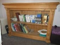 Hand Made Waxed Pine Bookcase