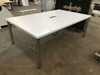 office meeting boardroom desk table wilkhahn white
