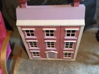 Dolls House Wooden with furniture